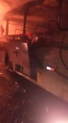 Ônibus coletivo é incendiado em Araquari